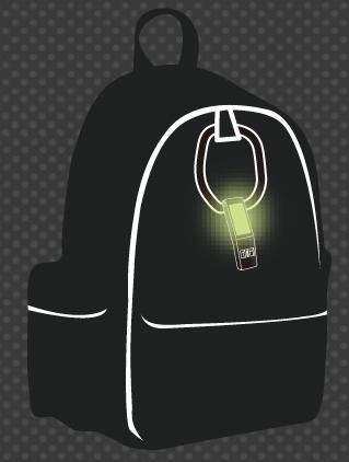 蓄光ホイッスルの蓄光シール部分