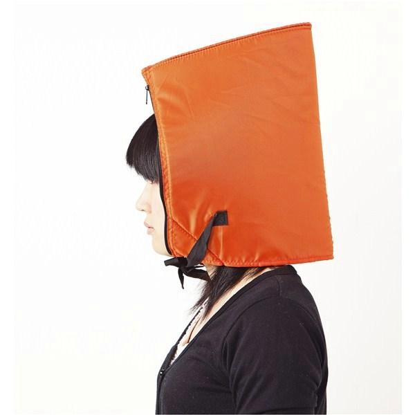 水に浮くリュックサック防災頭巾